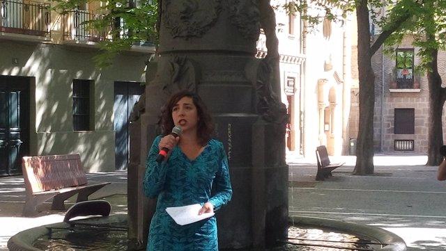 Laura Pérez, secretaria general de Podemos Navarra