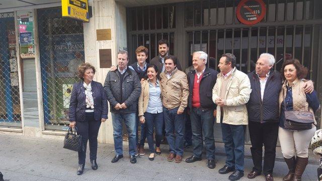 Rueda de prensa del equipo del alcalde de Porcuna, Miguel Moreno, en Jaén