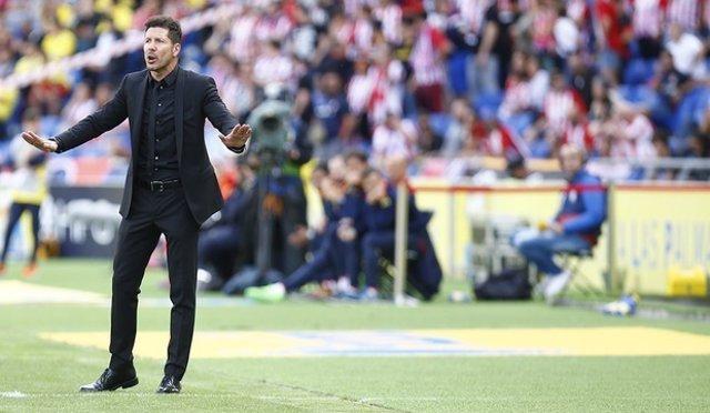 El entrenador del Átletico de Madrid, Diego Pablo Simeone
