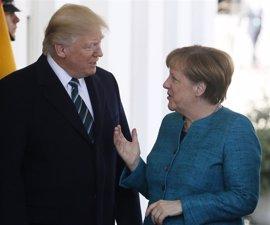 """Merkel asegura que mantiene una """"buena relación profesional"""" con Trump a pesar de sus diferencias"""