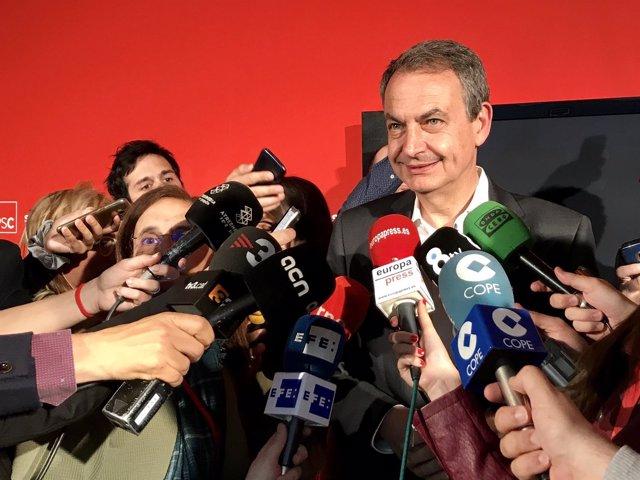 El expresidente Jose Luis Rodríguez Zapatero