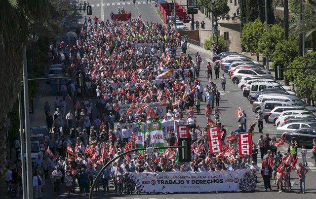 Manifestación del 1 de mayo de 2016 en Córdoba