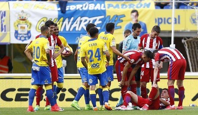 Lesión José María Giménez Atlético Las Palmas