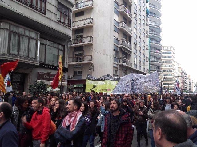 La marcha recorrió el centro de la capital
