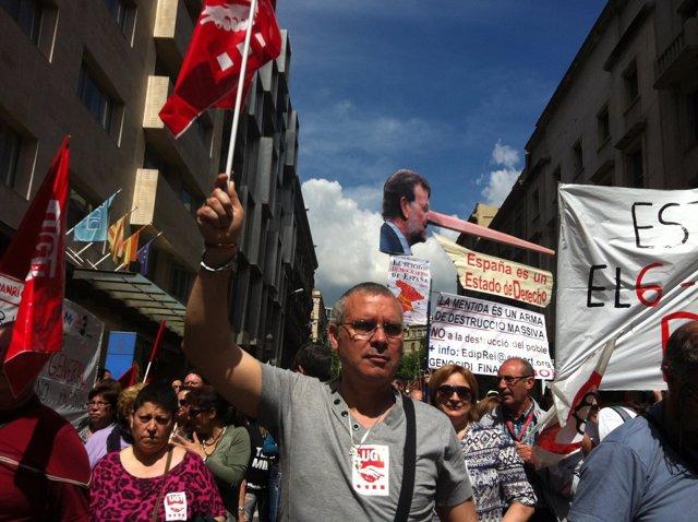 Manifetación del 1 de Mayo en Barcelona