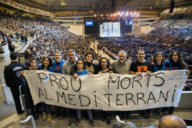 Concierto por los refugiados en el Palau Sant Jordi de Barcelona