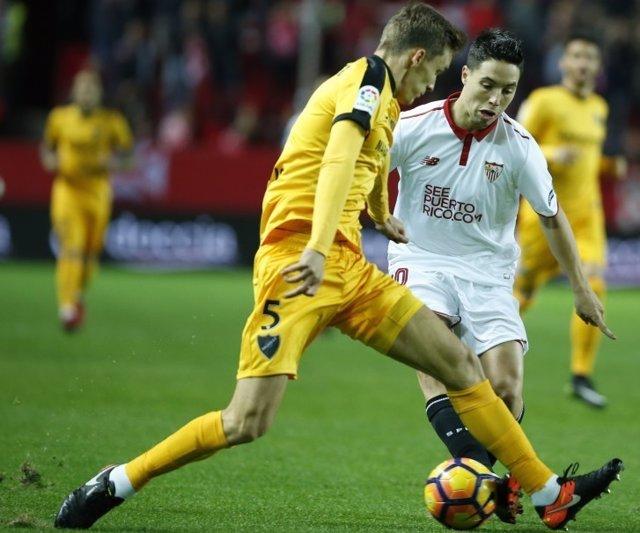 Diego Llorente Samir Nasri Sevilla Málaga