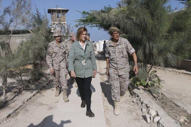 Cospedal visita a las tropas españolas en Somalia