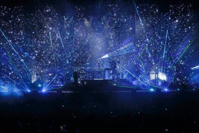 Jean-Michel Jarre en concierto. Santo Toribio. Año Jubilar. Música electrónica