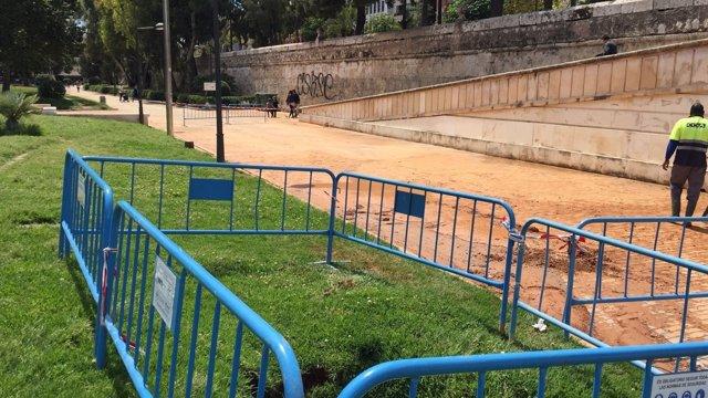 La inundación ha afectado a un tramo del cauce