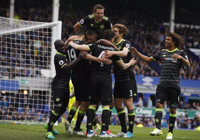 Everton contra el Chelsea
