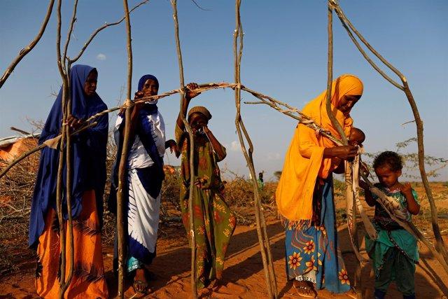 Desplazados somalíes en Baidoa