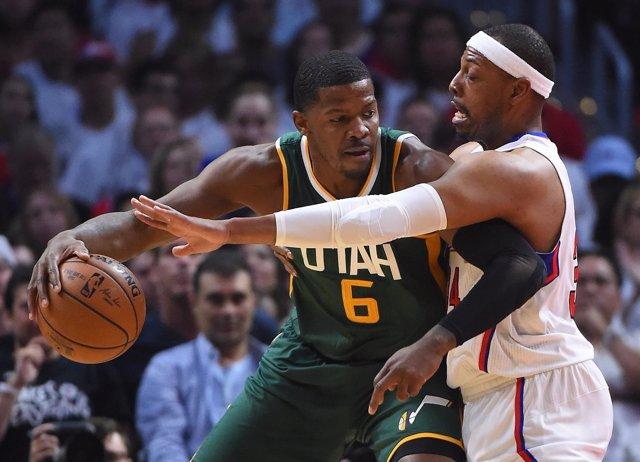 Paul Pierce (Clippers) en su último partido de la NBA