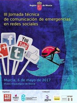 Cartel de las III Jornada técnica de comunicación de emergencias