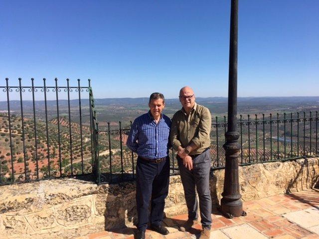 Visita del diputado provincial a Chiclana de Segura