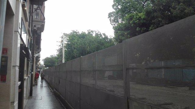 Obras de la Alameda Principal por el Metro