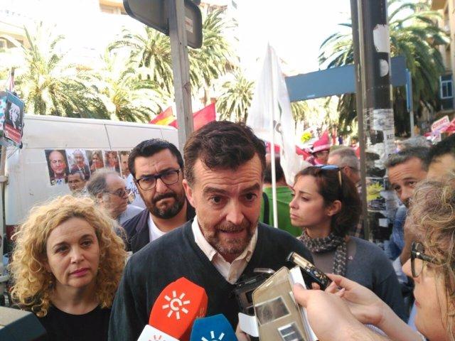 Maílo iu andalucía manifestación primero de mayo málaga ccoo ugt
