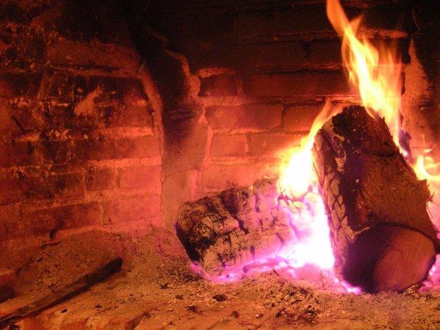 Chimenea, fuego, lumbre