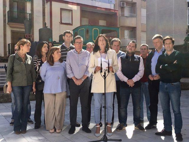 Rueda de prensa de Loles López en Huelva