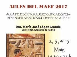El Museo Arqueológico de Ibiza y Formentera acoge un curso de iniciación a la escritura jeroglífica egipcia