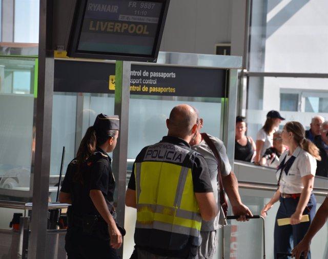 Control de fronteras en Alicante-Elche