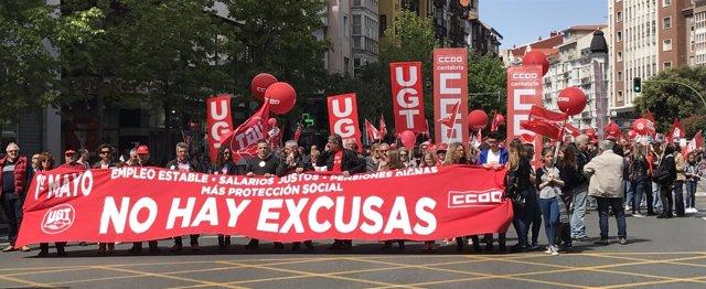 Manifestación en Santander por el 1 de Mayo