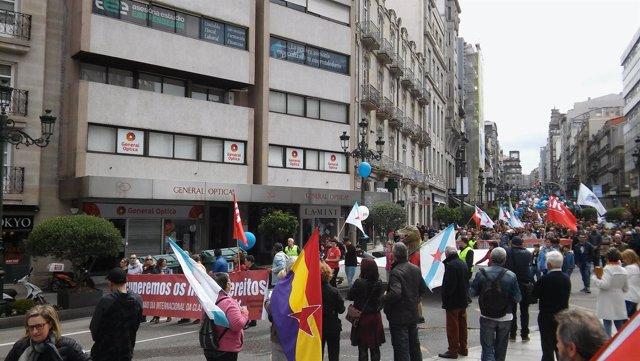 Manifestación de la CIG en Vigo este 1 de mayo