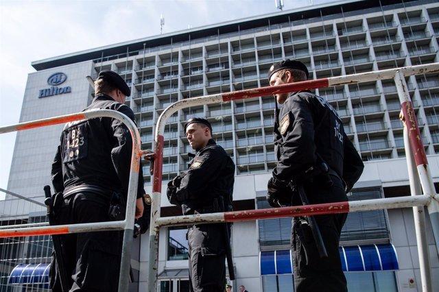 Policías en un despliegue de seguridad en Múnich