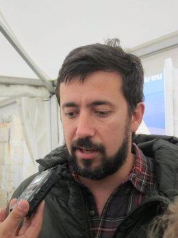 El cabeza de lista de En Marea al Congreso por A Coruña, Antón Gómez-Reino
