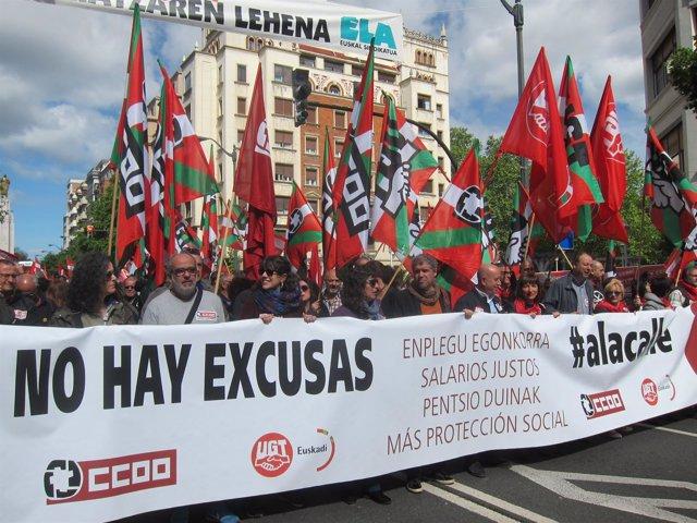 Manifestación CC.OO Y UGT