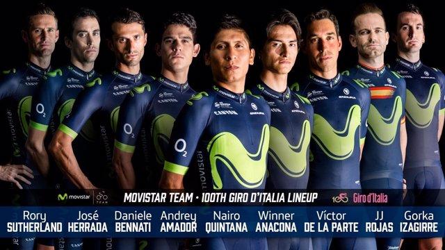 Nairo Quintana liderará al Movistar Team en el Giro 2017