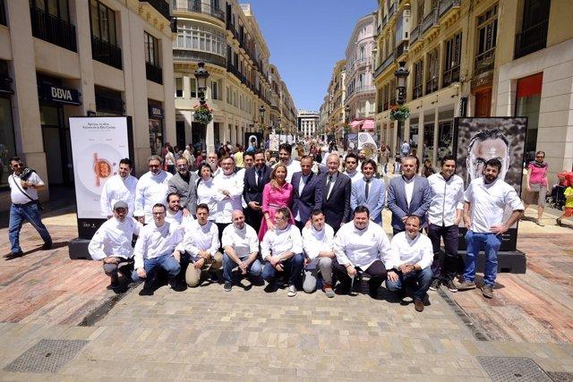 Málaga gastronomy festival cuarto 2017 calle Larios presentación