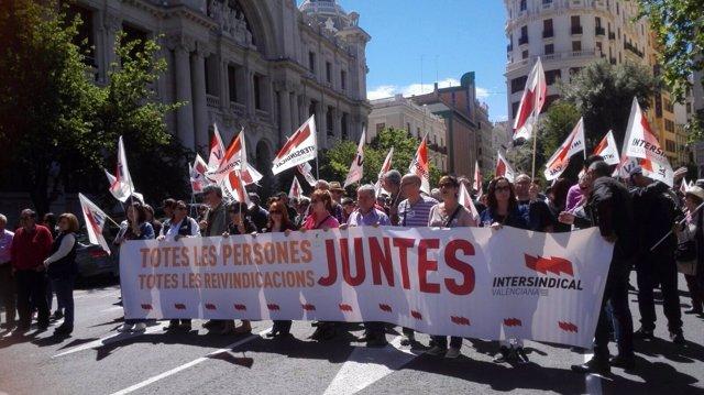 Manifestación del 1 de mayo de Intersindical Valenciana
