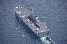 Japón despliega por primera vez su mayor buque de guerra en una misión de escolta a buques de EEUU