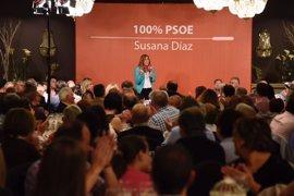 """Susana Díaz ve las primarias """"como la antesala"""" de la victoria del PSOE si se centran en lo que importa a la gente"""