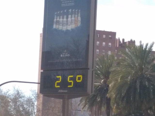 Termómetro 25ºC