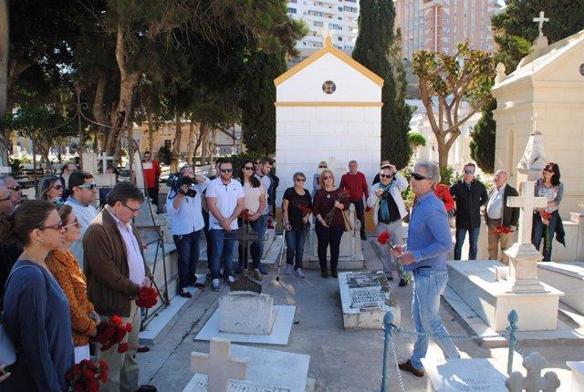 PSOE y UGT rinden homenaje en Melilla a las víctímas de la Guerra Civil