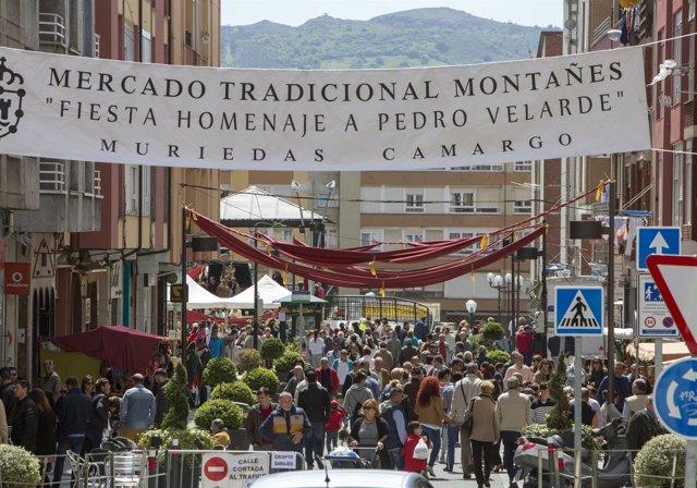 Mercado de las fiestas en homanaje a Pedro Velarde