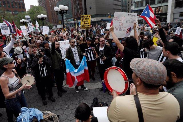 Manifestación del 1º de Mayo en Nueva York
