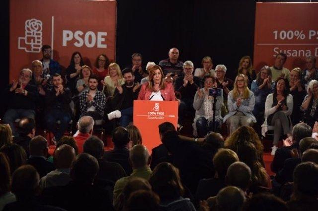 Susana Díaz en un acto en La Coruña