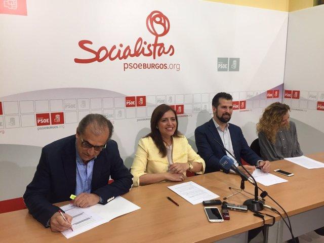 Burgos: Tudanca Con Los Responsables Del PSOE En Burgos