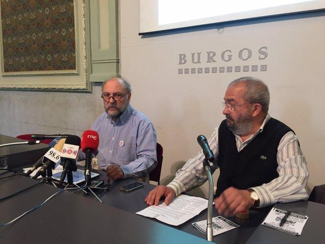 Ayllón (izquierda) en la rueda de prensa de la Plataforma por la sanidad Pública