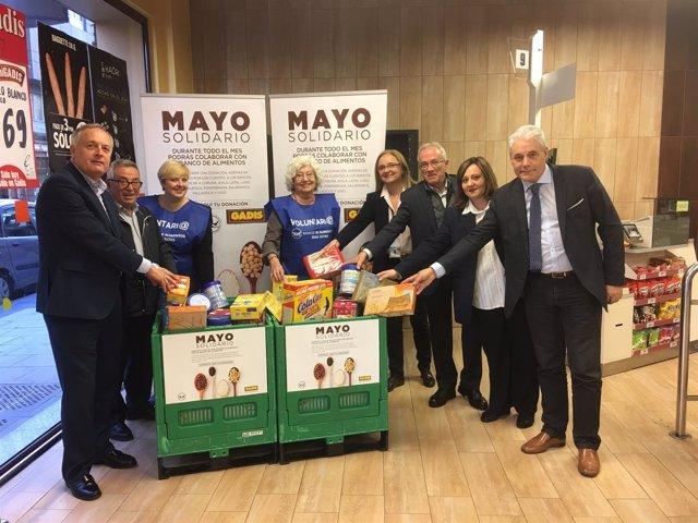 Gadis organiza 'Mayo solidario' para ayudar a bancos de alimentos.