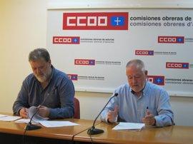 """Pino (CCOO) reprocha al Principado que administre """"con pereza"""" el acuerdo de concertación social"""