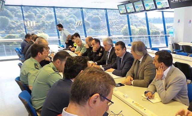 Reunión del dispositico de seguridad del Gran Premio de Motos de Jerez