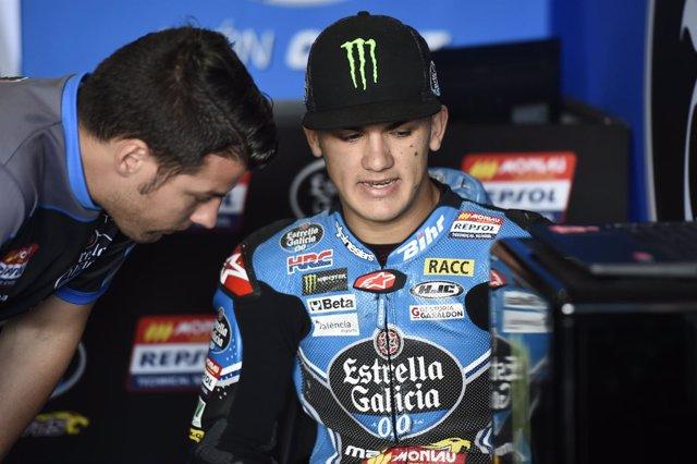 Arón Canet, piloto de Moto3 del Estrella Galicia 0,0