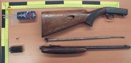 Cuatro detenidos por robo de armas de caza y cuernos de venado en Aracena