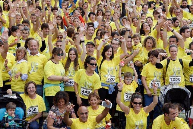 Primera edición de la carrera solidaria Let's Run en Bilbao