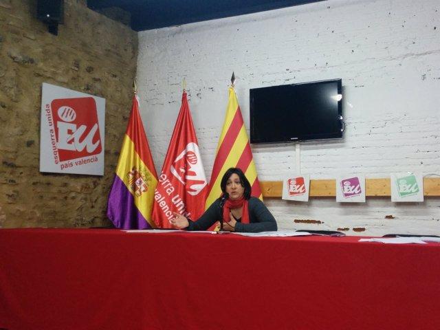 Diputada provincial de EUPV, Rosa Pérez Garijo