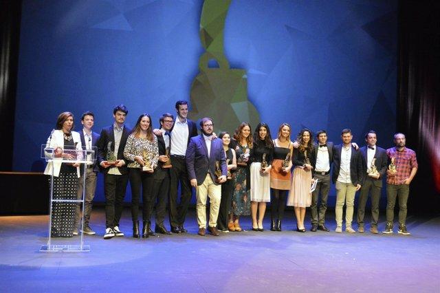 Entrega de los Premios Kino de FCOM de la Universidad de Navarra.